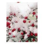 Snow Berries Personalized Letterhead