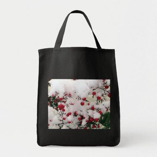 Snow Berries Tote Bags