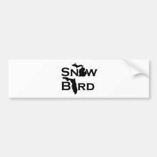 Snow Bird Car Bumper Sticker