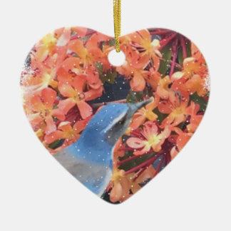 Snow Bird Ceramic Ornament