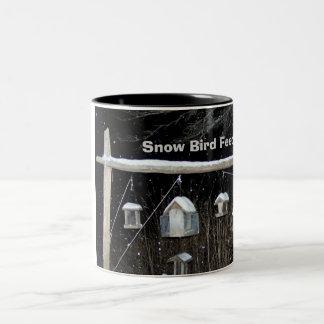 Snow Bird Feeders Two-Tone Coffee Mug