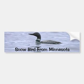 Snow Bird From Minnesota Bumper Sticker