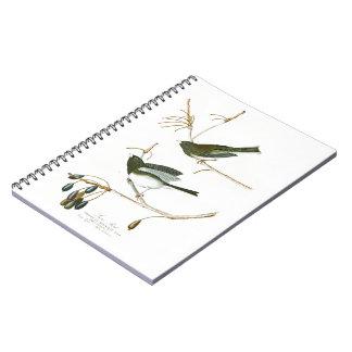 Snow Bird John James Audubon Birds of America Spiral Notebook
