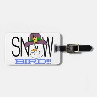 Snow Bird Luggage Tag