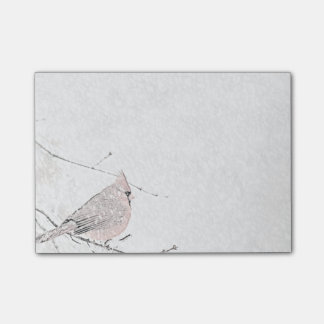 Snow Bird Post-it Notes