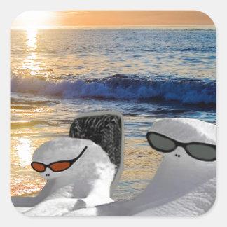 """Snow Bird Vacation"" Square Sticker"