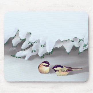 SNOW BIRDS by SHARON SHARPE Mouse Pad