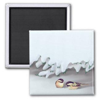 SNOW BIRDS by SHARON SHARPE Refrigerator Magnets