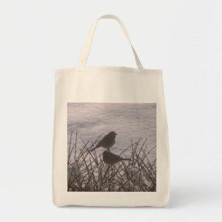 Snow Birds Canvas Bag