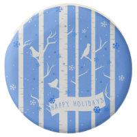 Snow Birds in Birch Trees Winter Oreo Cookies - 12