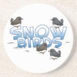 Snow Birds Juncos Beverage Coaster