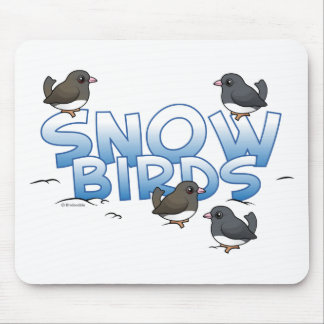 Snow Birds Mouse Pad