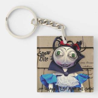 Snow Bite Vampire Zombie Art Doll Keychain Double-Sided Square Acrylic Keychain