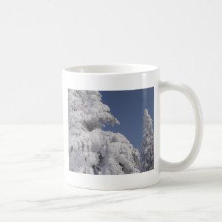 Snow Blanketed Pine Trees Coffee Mug