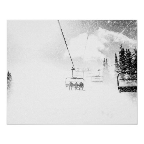 Snow Blasted // Skilift in Blizzard Winds