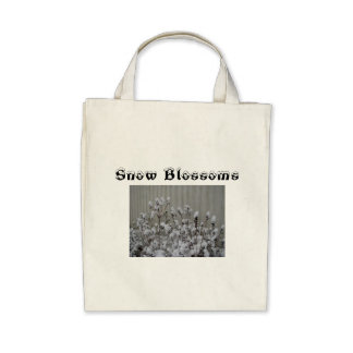 Snow Blossoms Canvas Bag