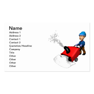 Snow Blower Business Card