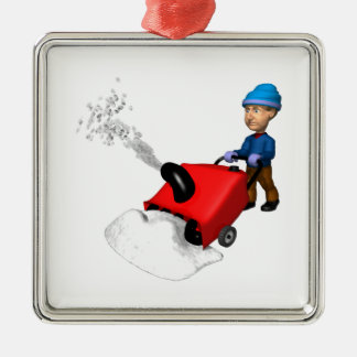 Snow Blower Christmas Tree Ornament