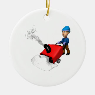 Snow Blower Christmas Ornament
