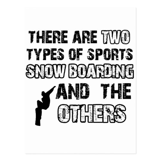 snow board designs for lovers of the sport postcard