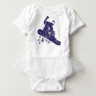 Snow-Boarder Baby Bodysuit