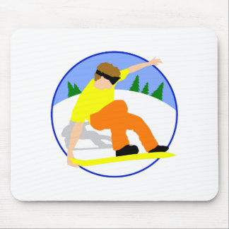 Snow Boarder Mouse Pad
