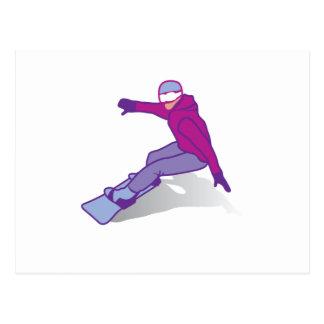 Snow boarder postcard