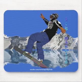 SNOW BOARDER Winter Sports Art Mousepad