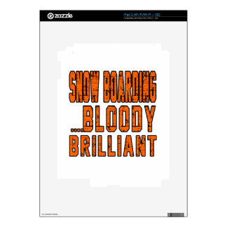 Snow Boarding Bloody Brilliant Decal For iPad 2
