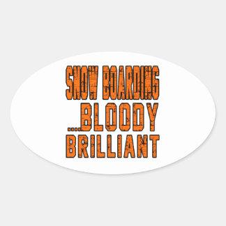 Snow Boarding Bloody Brilliant Sticker