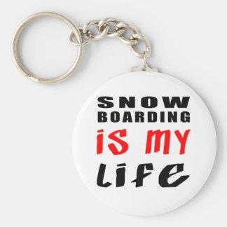 Snow Boarding is my life Keychain