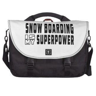 Snow Boarding is my superpower Laptop Computer Bag