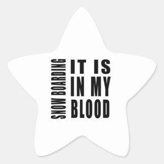 Snow Boarding It Is In My Blood Stickers