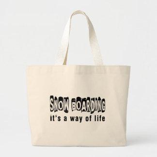 Snow Boarding It's a way of life Canvas Bag