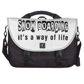 Snow Boarding It's a way of life Bag For Laptop