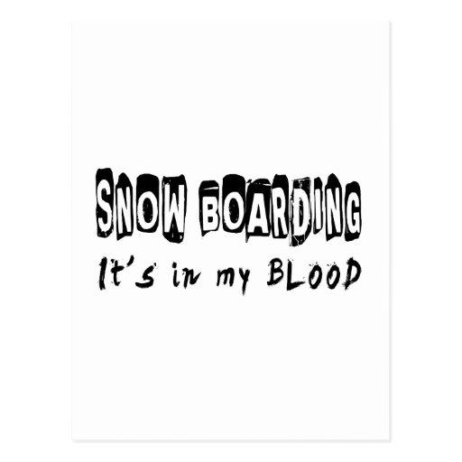 Snow Boarding It's in my blood Postcard