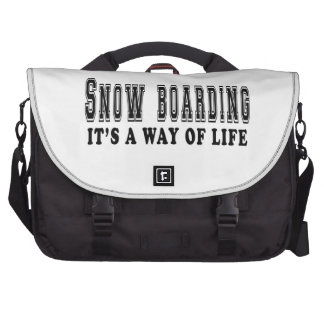 Snow Boarding It's way of life Laptop Commuter Bag