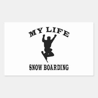 Snow Boarding My Life Sticker