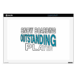 """SNOW BOARDING OUTSTANDING PLAYER 17"""" LAPTOP DECAL"""