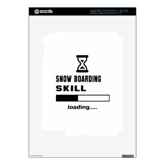 Snow Boarding skill Loading...... Decal For iPad 3