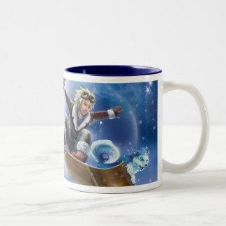 Snow Boarding Two-Tone Coffee Mug