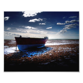 Snow Boat Photo Print