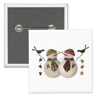Snow Bobbins · Snowcouple with Crows Button