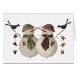 Snow Bobbins · Snowcouple with Crows Greeting Card