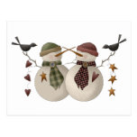 Snow Bobbins · Snowcouple with Crows Postcard