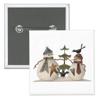Snow Bobbins · Snowcouple with Tree Button