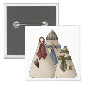 Snow Bobbins · Snowfamily Pinback Buttons