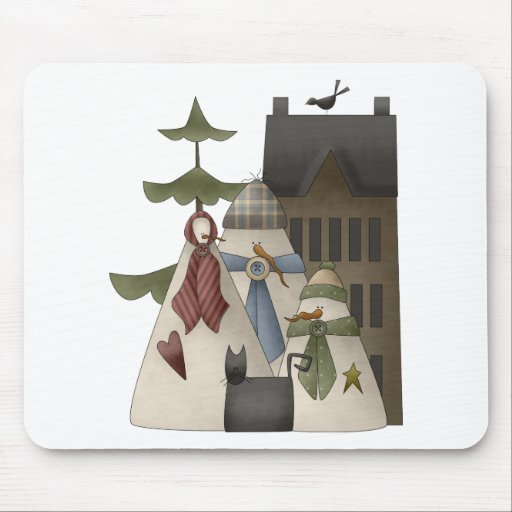 Snow Bobbins · Snowfamily & House Mouse Pads