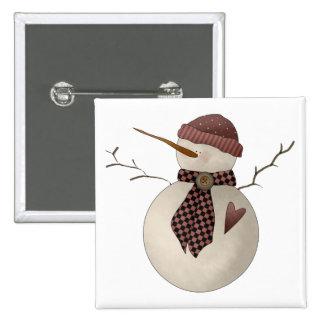 Snow Bobbins · Snowgirl Red Pinback Button