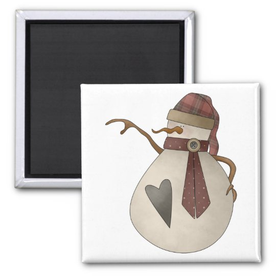 Snow Bobbins · Snowgirl with Heart Magnet